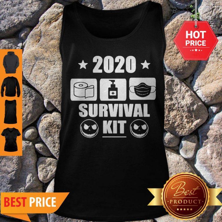 2020 Survival Kit Coronavirus Jack Skellington Tank Top