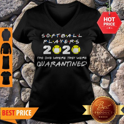 Softball Players 2020 Face Mask The One Where They Were Quarantined V-neck