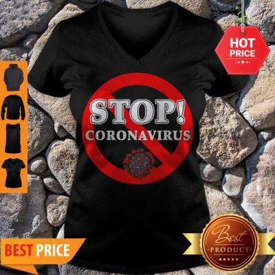 Stop Coronavirus V-neck