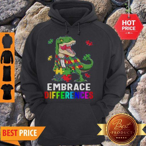 T-Rex Dinosaur Puzzle Piece Autism Hoodie