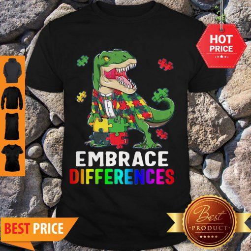 T-Rex Dinosaur Puzzle Piece Autism Shirt