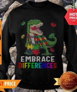 T-Rex Dinosaur Puzzle Piece Autism Sweatshirt