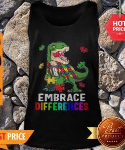 T-Rex Dinosaur Puzzle Piece Autism Tank Top