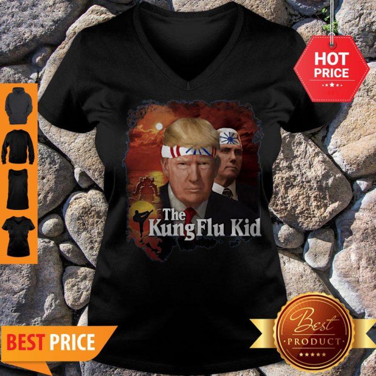 Trump Kung Flu Kid V-neck