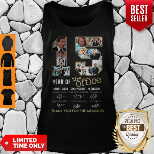 15 Year Of The Office 2005 2020 201 Episodes 9 Season Signatures Tank Top