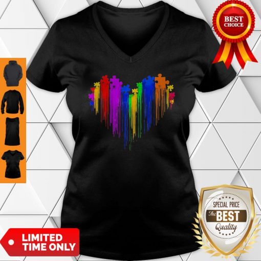 Awesome Autism Watercolor V-neck