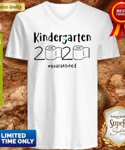 Awesome Kindergarten 2020 Quarantined Coronavirus V-neck