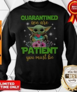 Baby Yoda Book And Apple Quarantined We Are Patient You Must Be Sweatshirt