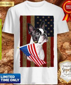 Boston Terrier America Flag Dog Lovers Shirt