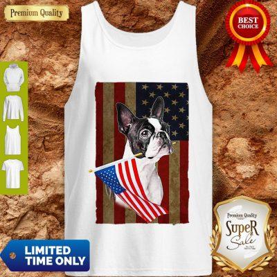 Boston Terrier America Flag Dog Lovers Tank Top