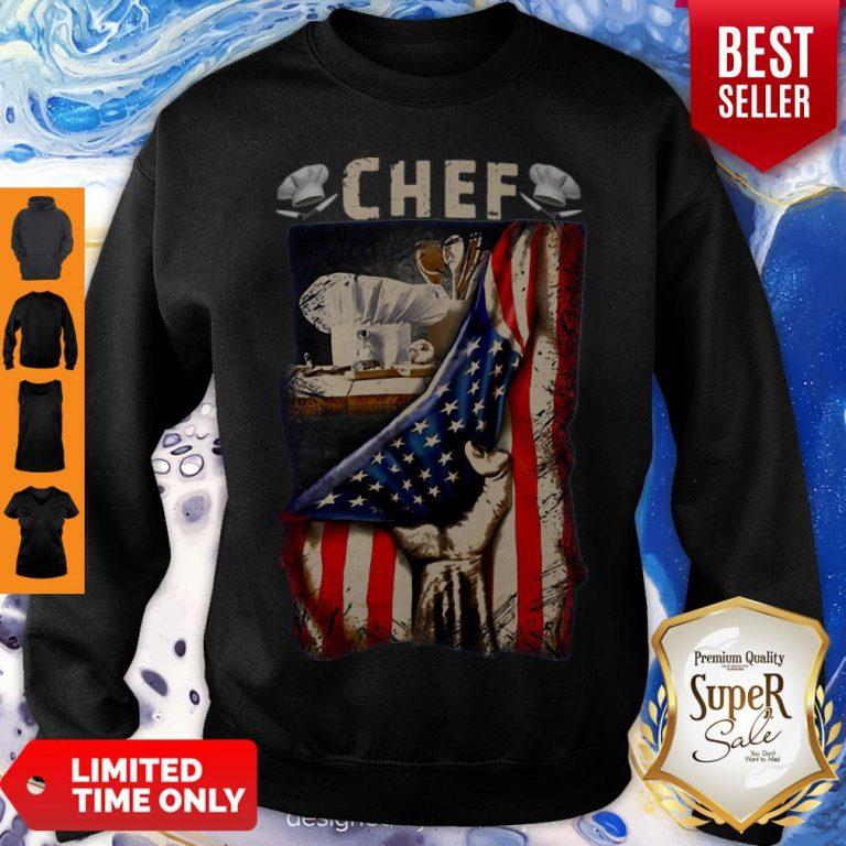 Chef American Flag Sweatshirt