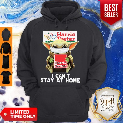 Star Wars Baby Yoda Face Mask Hug Harris Teeter I Can't Stay At Home Hoodie