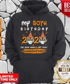 Nice My 50th Birthday 2020 Tiger The Year When Shit Got Real Quarantined Hoodie