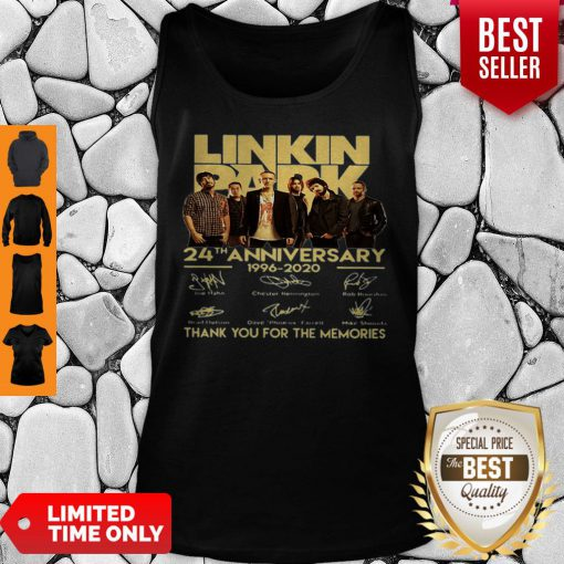 Linkin Park 24th Anniversary 1962 2020 Thank You For The Memories Tank Top