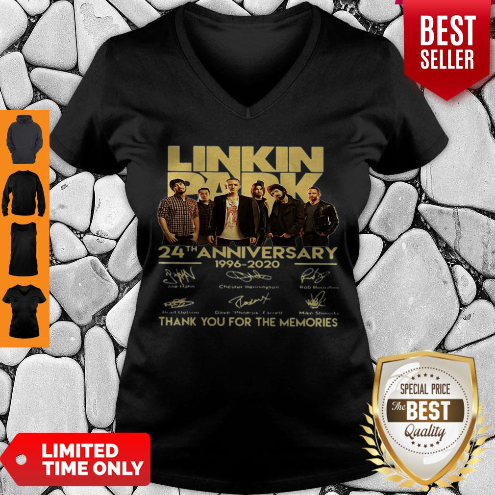 Linkin Park 24th Anniversary 1962 2020 Thank You For The Memories V-neck