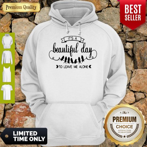 Nice Bird It's A Beautiful Day To Leave Me Alone Hoodie