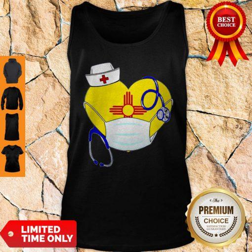 Nice Love New Mexico Nurse Mask Coronavirus Tank Top