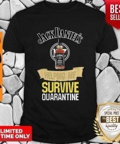 Official Jack Daniel's Helping Me Survive Quarantine Covid-19 Shirt