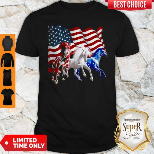 Awesome Horses American Flag ShirtAwesome Horses American Flag Shirt