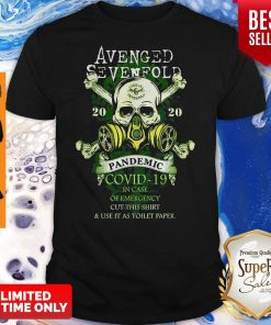 Avenged Sevenfold 2020 Pandemic Covid-19 In Case Of Emergency Version Skull Shirt