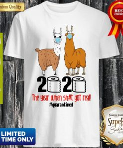 Premium Lama 2020 The Year When Shit Got Real Quarantined ShirtPremium Lama 2020 The Year When Shit Got Real Quarantined Shirt