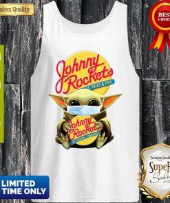 Star Wars Baby Yoda Mask Hug Johnny Rockets Hamburger Covid-19 Tank Top