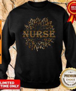 Sunflower Leopard Nurse Love What You Do Sweatshirt