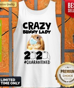 Crazy Bunny Lady Mask 2020 Quarantined Coronavirus Tank Top