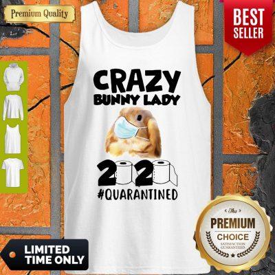 Crazy Bunny Lady Mask 2020 Quarantined Coronavirus Tank Top