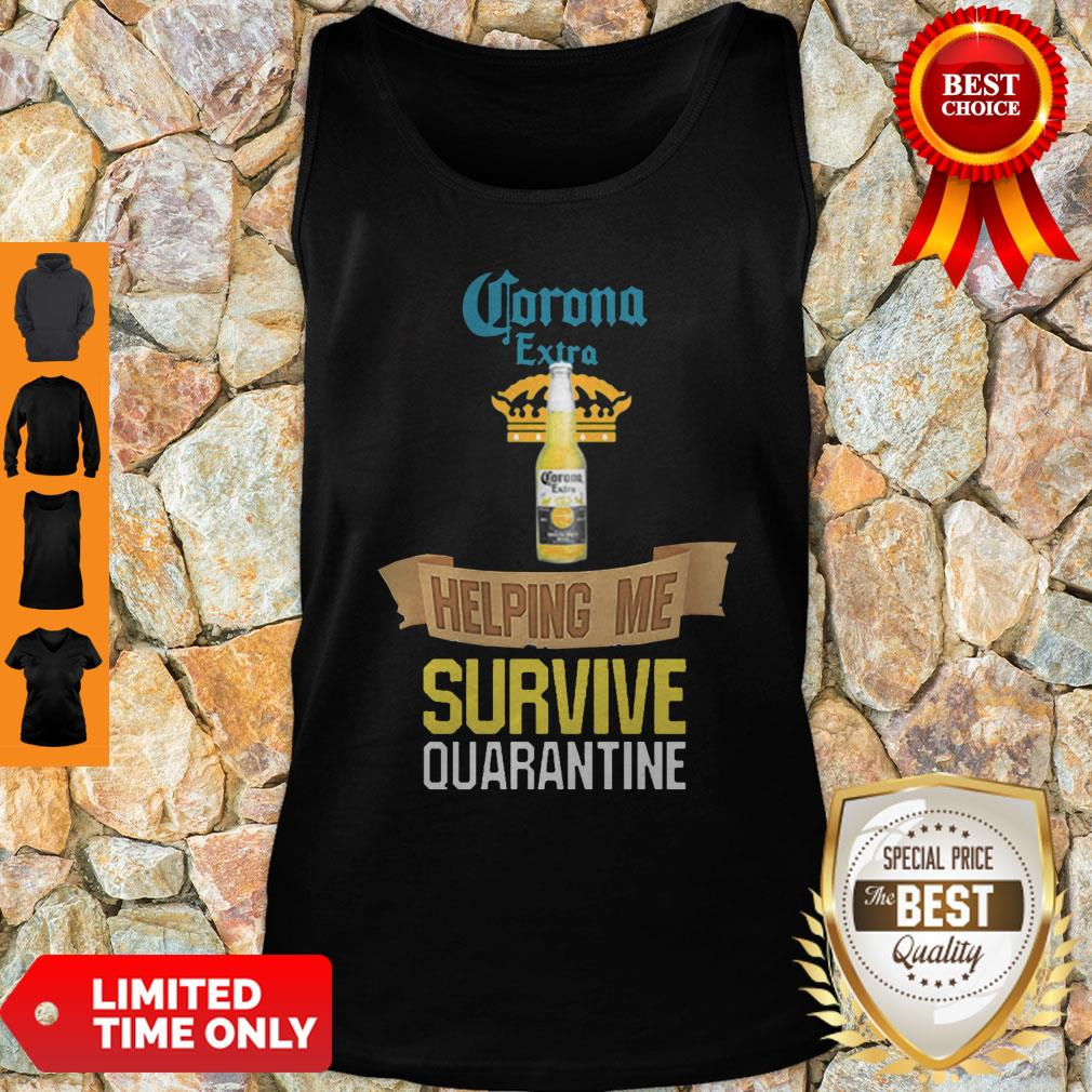 Official Corona Extra Beer Helping Me Survive Quarantine Tank Top