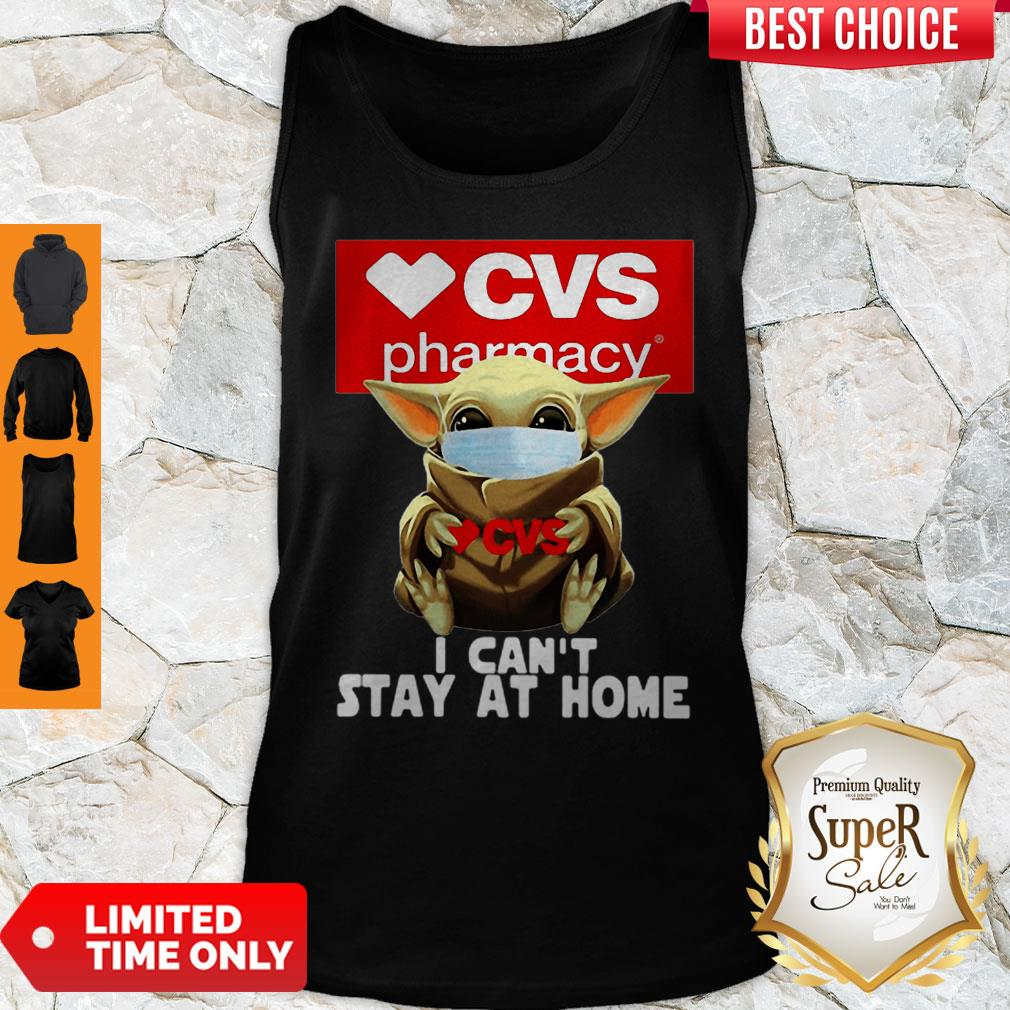 Baby Yoda Mask CVS Pharmacy I Can't Stay At Home Coronavirus Tank Top