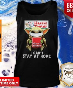 Star Wars Baby Yoda Face Mask Hug Harris Teeter I Can't Stay At Home Tank Top