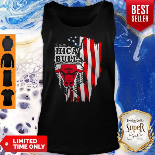 Awesome Chicago Bulls Inside American Flag Tank Top