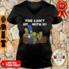 The Simpson Stay At Home You Can't Sit With Us V-neck