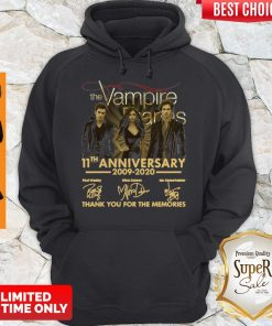 The Vampire Diaries 11th Anniversary 200902020 Thank You For The Memories Hoodie
