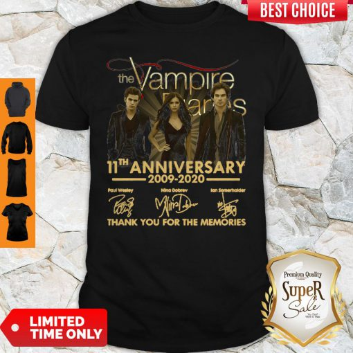The Vampire Diaries 11th Anniversary 200902020 Thank You For The Memories Shirt
