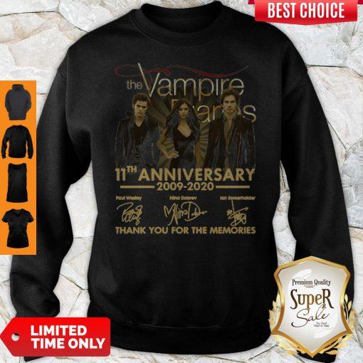 The Vampire Diaries 11th Anniversary 200902020 Thank You For The Memories Sweatshirt