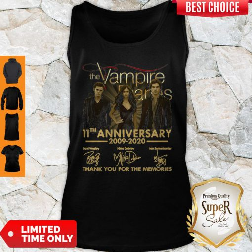 The Vampire Diaries 11th Anniversary 200902020 Thank You For The Memories Tank Top
