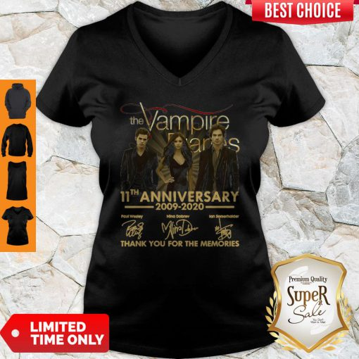 The Vampire Diaries 11th Anniversary 200902020 Thank You For The Memories V-neck