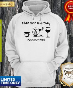 Official Plan For The Day Coffee Baking Wine Glass Quarantined Covid-19 Hoodie