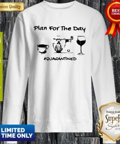 Official Plan For The Day Coffee Baking Wine Glass Quarantined Covid-19 Sweatshirt