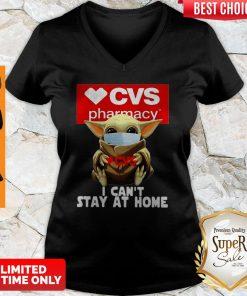 Baby Yoda Mask CVS Pharmacy I Can't Stay At Home Coronavirus V-neck