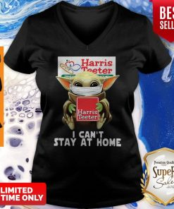 Star Wars Baby Yoda Face Mask Hug Harris Teeter I Can't Stay At Home V-neck
