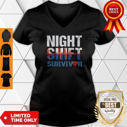 Official Night Shirt Survivor V-neck