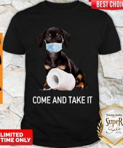 Awesome Dachshund Face Mask Come And Take It Shirt