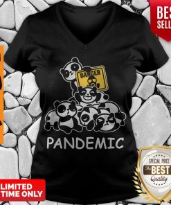 Awesome Danger Pandas Pandemic V-neck