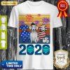 Dachshund 4 Of July 2020 Quarantined Vintage Shirt