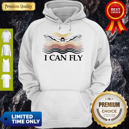 Premium Swimming I Can Fly Hoodie
