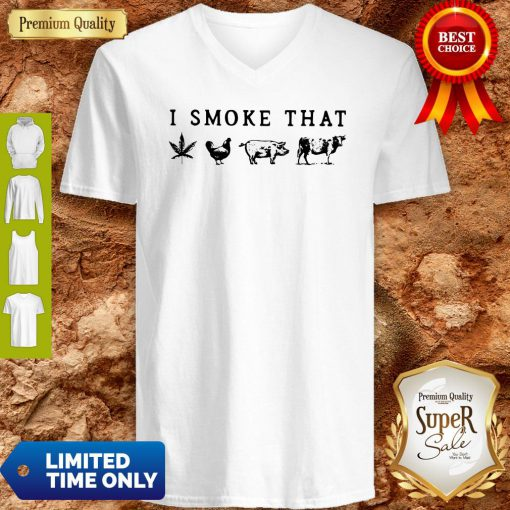 I Smoke That Cannabis Chicken Pig And Cow V-neck