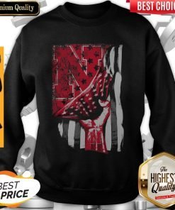 Nebraska Cornhuskers American Flag Independence Day Father's Day Sweatshirt